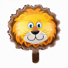 XXPWJ Free shipping 1pcs Mini Lionhead aluminum balloons decorated party balloons wholesale children's toys B-042(China)