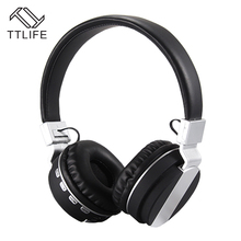 Buy TTLIFE FE-018 Bluetooth Headphones Wireless V4.2 Stereo Headset Mic Support TF Card FM Radio Music Phone PC for $18.46 in AliExpress store