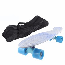 60cm Long Black Long Skateboard Carrying Bag Nylon Skate Board Peny Board Longboard Scooter Handbag Bag Backpack(China)