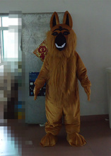 In-stock Fast Ship Brown Wolf Dog Mascot Costume Suit Halloween Christmas Birthday Party for Adult Size