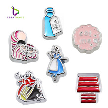 "10PCS!! 8MM ""Bottle Drink me"" Floating charms, Zinc Alloy Fit Floating lockets & Floating locket bracelet charms (LSFC358*10)(China)"