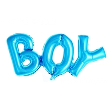 10pcs New Hot Link Connected BOY Letter Alphabet Aluminum foil Balloons Child Birthday Party Decoration helium air Toys balloon