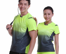 New Sportswear Quick Dry breathable badminton shirt , Women / Men table tennis shirt clothes team game short sleeve T Shirts(China)
