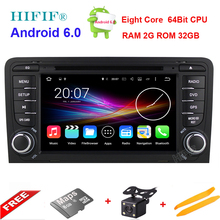 HIFIF Octa Core Android 6.0 Car Stereo Audio Radio For Audi A3 2003-2011 Touchscreen Car DVD Player GPS Navigation Headunit DAB+(China)
