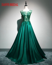 Green Long Lace Evening Dresses Party Satin On Sale Women New Prom Formal Evening Gowns Dresses for Weddings(China)