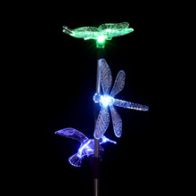 1PC Dragonfly Yard LED Lawn Light Xmas LED Bulb Night Light Solar Power Light Outdoor Garden Lamp Waterproof Home Decoration New