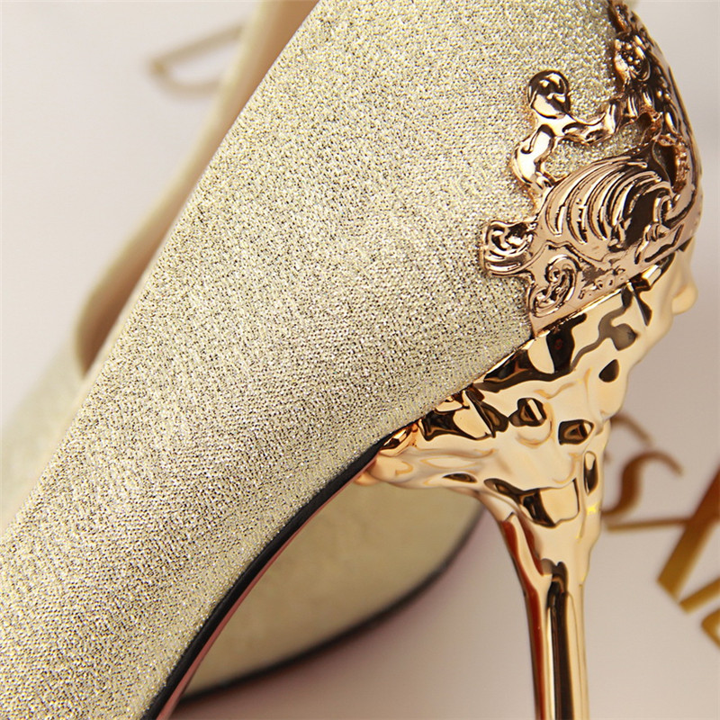 Sexy High Heels Shoes Woman Pumps Red Gold Silver High Heels Shoes Woman Ladies Wedding Party Shoes 2018 15