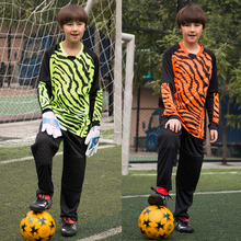 New Kids Boys Rugby Jerseys Goalkeeper Soccer Jersey Shirts Survetement Football 2017 Sports Training Pants Knee pad Breathable