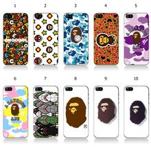 Wholesale 10pcs/lot bape head protective Black Hard Plastic Back Case Cover For iphone 6