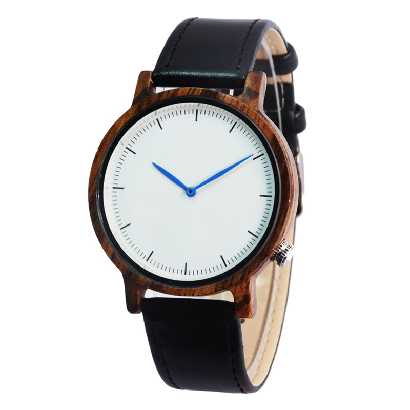 Factory wholesale Zebra Wooden Wristwatch For Mens Fashion Gifts With Genuine Cowhide Leather Watchband Wood Watch<br><br>Aliexpress