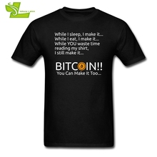 Buy Black T Shirt Men Making Bitcoin Shirt BTC Crypto Currency Tees Man O-Neck Short Sleeve T-Shirt Men's Cool Designs Cotton for $12.88 in AliExpress store