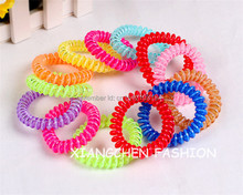 10pcs/lot Hair Accessory Large Size Two-tone Candy Colors Phone Wire Hairband Telephone Cord Hair Tie Ponytail Holder