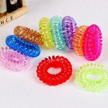 12Pcs Gum Telephone Wire Elastic Hair Bands Ties Rings Rubber Ponytail Holder Bracelets Headbands Hair Accessories