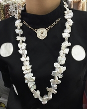 NEW large size peanut shape statement necklace keshi pearl jewelry opera stely is freshwater 80cm for every clothes