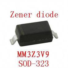 0805 smd zener diode sod-323 MM3Z3V9 100pcs(China)