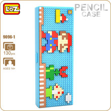 LOZ ideas Diamond Block Pixel Pencil Case School Cute Plastic Storage Box Gift for Children Toys For Kids ABS DIY Kawaii 9096-1(China)