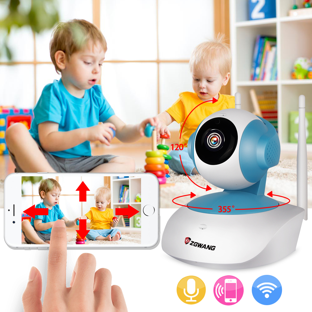 Mini Wifi IP Camera Wireless 720P Baby Monitor Network CCTV Security Surveillance Camera With US Plug<br>