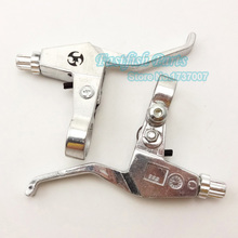 Aluminum silver Brake Levers Right Left For 43cc 47cc 49cc Gas Scooter Mini Chopper Pocket Pit Dirt Bike Motorcycle Crass Parts