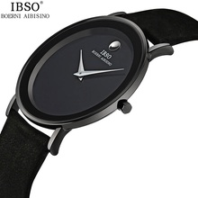 Ultra Thin Luxury Brand Quartz Men Watches Fashion Crystal Genuine Leather Man Wrist Watch 3ATM Water Resistant Male Clock Black