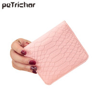 2017 Brand Designer Faux Leather Women Short Wallets Ladies Small Wallet Hasp Coin Women Purse Wallet Female Purses Money Bag(China)