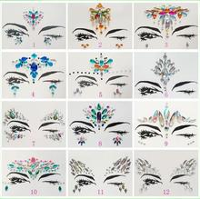 Adhesive Face Gems Rhinestone Temporary Tattoo Jewels Festival Party Body Glitter Stickers Flash Temporary Tattoos Sticke(China)