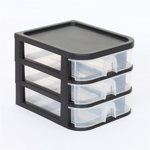 Minimalist Multi-Function Table Cosmetic Organizer Case Holder Table Desktop Storage Basket Box with Drawer for Home and Office