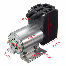 1pc High Pressure Mini Vacuum Pump 12V 6W Electric Diaphragm Pump with Holder 5L/min