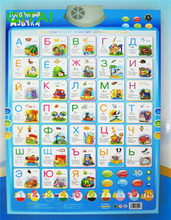 ECRODA Stock!!Russian language Learning & Education baby toy Alphabet Music Learning Machine Phonic Wall Hanging Chart