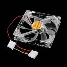 4-pin PC Case fan Sleeve Bearing Technology Fans 4 LED Blue for Computer PC Case Cooling 120MM  1200 RPM