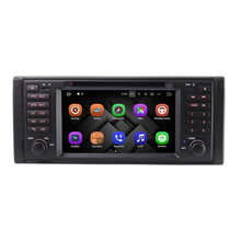"7"" 2 Din 1024*600 Quad Core Android 7.1 Car DVD Player GPS Radio For BMW 5 Series X5 E53 E39 M5 1996-2004 with Can Bus 1080P RDS(China)"