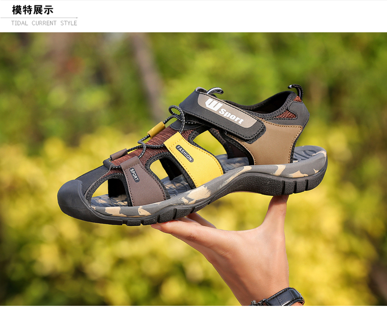 Leader Show Men Fashion Casual Shoes Summer New Adult Outdoor Beach Shoes High Quality Comfortable Man Baotou Sandals Breathable 11 Online shopping Bangladesh
