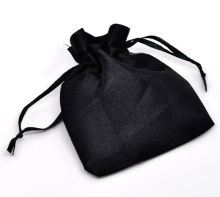 DoreenBeads Black Drawable Satin Wedding Gift Bags&Pouches 10x8cm,sold per pack of 50
