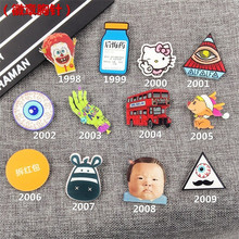 Min Order $5(Mix Order) Nice Acrylic Badge Broche HARAJUKU Cat bus Brooch Accessory for Scarf Pin Up Punk Jewelry XZ29(China)