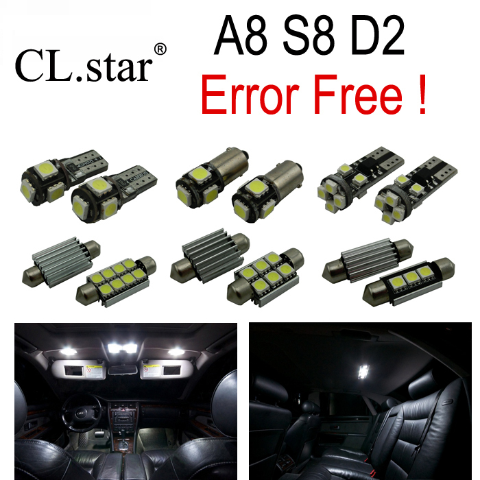 29pc x canbus LED lamp Interior Light Kit Package for Audi A8 S8 D2 Quattro (1997-2002)<br><br>Aliexpress
