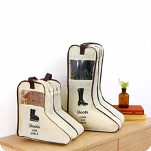 Portable Travel Long Riding Rain Ankle Boots Leather Shoes Storage Bag Visible Windows Long Short Martin Boots Organizer
