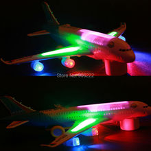 With Flash Music Sound Air Bus Electric Universal Function Aircraft Plane With Music Lights Toys