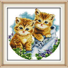 dog Be together Counted Cross Stitch DMC Cross Stitch Sets DIY 11CT 14CT Cross Stitch Kits Embroidery Needlework WR031