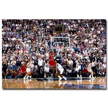 NICOLESHENTING Michael Jordan Dunks Basketball Star Art Silk Poster Huge Print Sport Wall Picture Home Room Dercor 022(China)