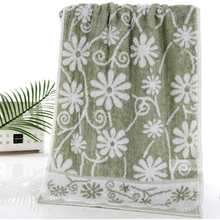 1 Piece Free Shipping New High Quality Bamboo Fiber Cotton Flowers Towels Jacquard Face Towel 34*73cm Bathroom Towels Tissu