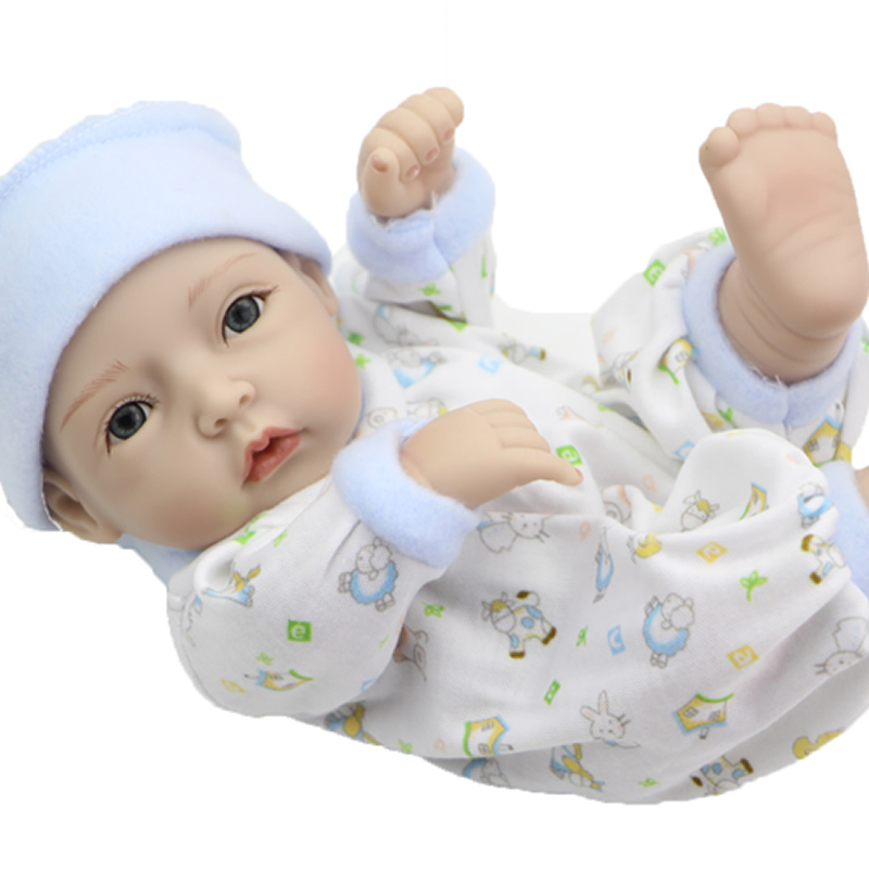 Handmade Full Silicone Vinyl Reborn Newborn Baby Doll 11 Inch Realistic Alive Dolls With Lovely Clothes Kids Birthday Gift<br><br>Aliexpress