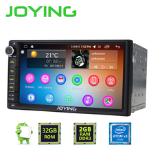 Newest JOYING 2GB RAM 32G ROM 2Din HD 7'' Android 6.0 Universal Car Radio Audio Stereo GPS Navigation Media Player Tape recorder(China)