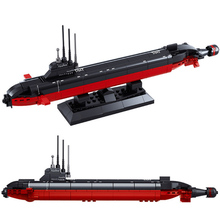 Aircraft carrier battle group Nuclear Submarine Military Technology Building Blocks 3D DIY assembling educational Toys For Kids