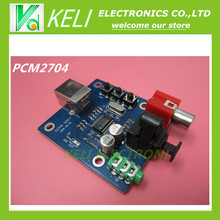 1Pcs PCM2704 USB DAC to S/PDIF Sound Card Decoder Board Module Analog Output