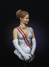 Scale Models 1/ 10 beautiful Grace of Monaco bust 1/10 WWII Resin Model Free Shipping(China)