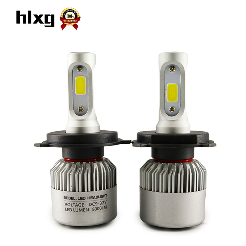 2Pcs All In one LED H4 H7 H11 9005 12V 36W 8000LM Halogen Headlight Replacement Hi/lo Beam Car Driving Fog Light Lamp Bulb 6500K<br><br>Aliexpress