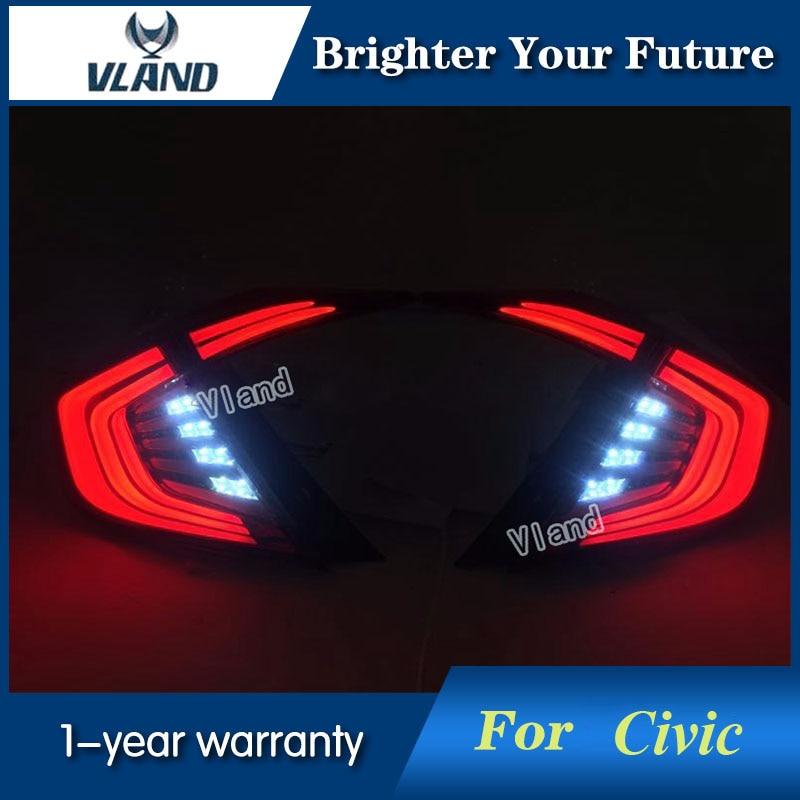 Vland New LED Tail Lights For Honda Civic 2016-201...