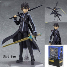 "Hot Sale 6"" Sword Art Online II Fairy Dance Kirito Boxed 14cm PVC Action Figure Collection Model Doll Toy Figma 289"
