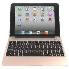 Aluminum Keyboard Case with 7 Colors Backlight Backlit Wireless Bluetooth Keyboard & Power Bank for ipad Air2 For iPad Air 2
