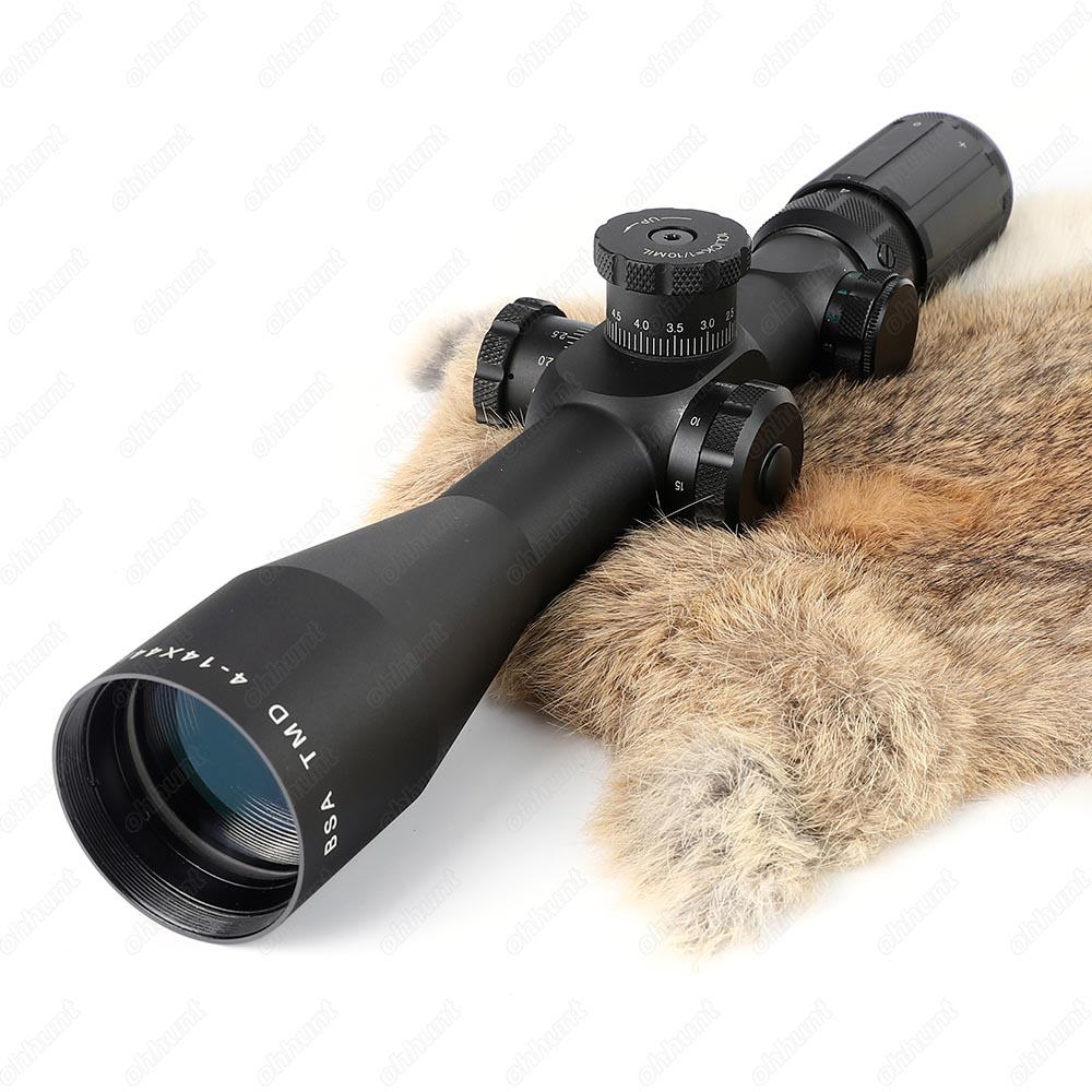 BSA TMD 4-14X44-30 IR Hunting Riflescope Side Parallax Tactical Optical Sight Red Green Reticle Illuminated Rifle Scope  (3)