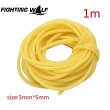 1M 3x5mm Natural Latex Slingshots Rubber Tube Tubing Band For Hunting Shooting Catapult Elastic Part Fitness Bungee Equipment